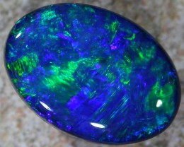 2.2 Cts Gem doublet black  Black opal   BU 723