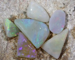 15.1Cts 6 rubed opals  South aussie   BU 725
