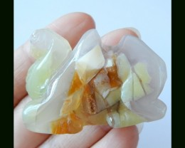 1227.7 Ct Natural Madagascar Gemstone Camel Carving Crystal opal