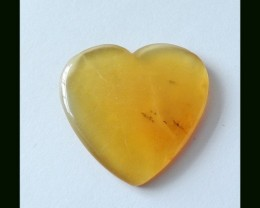 19.5 ct Natural Madagascar Opal Crystal Heart Cabochon