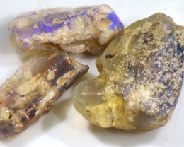 96. 25 CTS OPAL FOSSIL WOOD PARCEL (3 Pcs)  FO-288