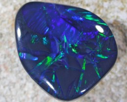 4.45 CTS RARE BAMBOO LEAVES PATTERN  QUALITY BLACK OPAL -N1 [Q2218]sh