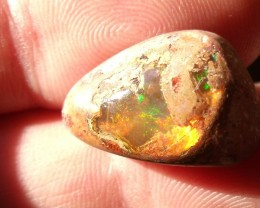 15.0 Ct. Mexican opal crystal inlaid set in resin