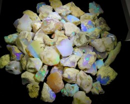 750ct 65Pcs Ethiopian Welo Lot Natural Rough Opal