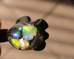 Natural Fire opals Acrylic Pendant