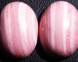 18.10 CTS  18X12mm  AUSTRALIAN  PINK OPAL PAIR [VS6862 ]