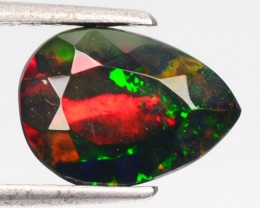 2.11 Smoked Multi Color Play Ethiopian Black Opal Pear Faceted