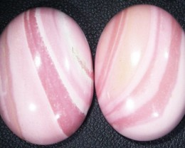 47.75 CTS  25X18mm  AUSTRALIAN  PINK OPAL PAIR [VS6889 ]