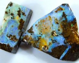 38.5CTS BOULDER OPAL ROUGH (2-PCS)  DT-5572