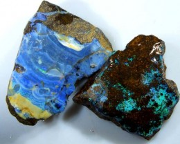 80CTS BOULDER OPAL ROUGH (2-PCS)  DT-5575