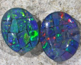 4.05 Cts Pair Opal triplets  BU 839