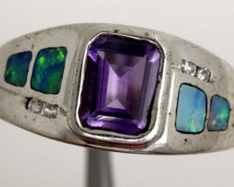 OPAL WITH AMETHYST RING 16.80   CTS    OF-1119 GC