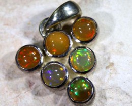 9.85  CTS ETHIOPIAN OPAL SILVER PENDANT     OF-1123