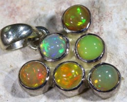 9.30 CTS ETHIOPIAN OPAL SILVER PENDANT  OF-1128