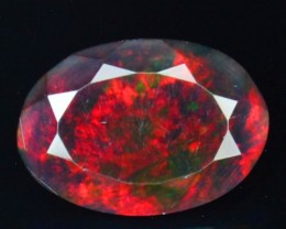 Smoked Multi Color Play Ethiopian Black Opal Oval Faceted