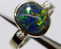 TRIPLET OPAL SILVER RING 20 CTS OF-1144