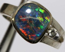 TRIPLET OPAL SILVER RING 20 CTS OF-1145