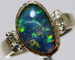 TRIPLET OPAL SILVER RING 20.9 CTS OF-1149