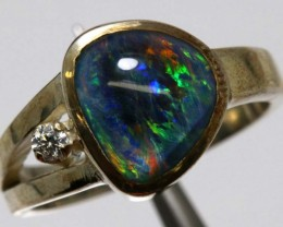TRIPLET OPAL SILVER RING 20.6 CTS OF-1150