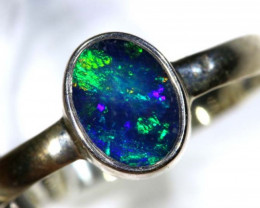 DOUBLET OPAL SILVER RING 9.30  CTS OF-1159
