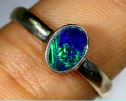 DOUBLET OPAL SILVER RING 9.20  CTS OF-1160