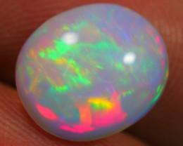 1.93Ct Metallic NEON Color Play Ethiopian Welo Solid Opal