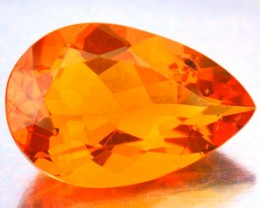 2.70  Cts Natural Mexican Orange Opal Pear Faceted - NR Auction