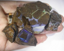 370 CT   GAMBLE  5PC Rough Boulder Opals BU 847