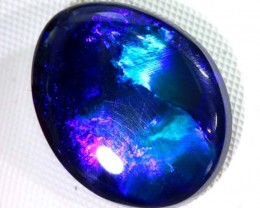 N-2 - 6.85  CTS QUALITY BLACK SOLID OPAL LIGHTNING RIDGE INV-272