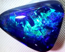 N-2- 6.90  CTS QUALITY BLACK SOLID OPAL LIGHTNING RIDGE INV-275
