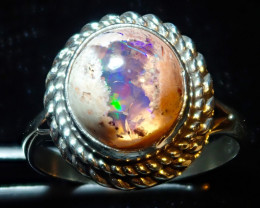 8size Natural Mexican Matrix Opal .925 Sterling Silver