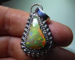 Largue Blazing  Ethiopian Fire Opal Pendant