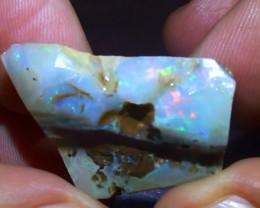 45.35 ct Rainbow Color Solid Queensland Boulder Opal Rough Rub