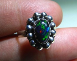 Sz 6.5 Opal Doublet .925 Silver Taxco Handmade Ring  Quality Jewelry