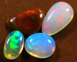6.00cts REMARKABLE 4 PCS LOT Natural Untreated Ethiopian Opal