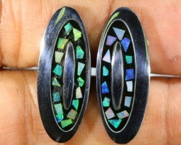 OPAL INLAY CUFF LINKS 66.20 CTS OF-1187
