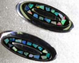 OPAL INLAY CUFF LINKS 65.75 CTS OF-1196