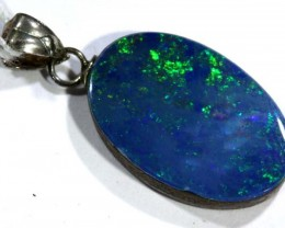 DOUBLET OPAL SILVER PENDENT  7.70  CTS   OF-1204