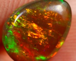 1.30cts REMARKABLE FIRE PATCHEWORK Natural Untreated Ethiopian Opal