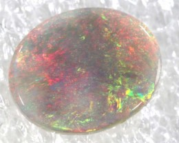 N-7 1.70 CTS Solid Black Opal Lightning Ridge ANO-65
