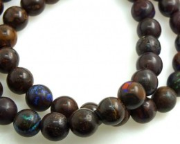230 CTS BOULDER OPAL BEAD NECKLACE OF-1215