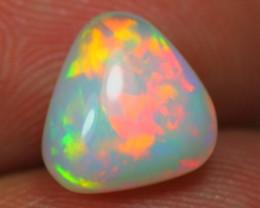 1.94Ct BRIGHT 5/5 Metallic NEON Color Play Ethiopian Welo Solid Opal