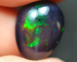 6.56Ct Metallic Broadflash Color Play Ethiopian Welo Solid Black Smoked Opa