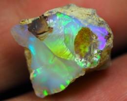 15.41Ct Bright 5/5 Neon Color Play Ethiopian Welo Rough Opal