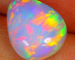 2.48cts Natural NEON PINK GREEN MACKEREL Ethiopian Welo Polished Opal
