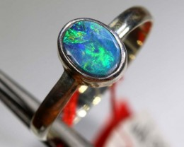 9.30 CTS DOUBLET OPAL SILVER RING OF-1220