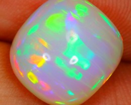 3.61cts Natural NEON MACKEREL MULTI-COLOR Ethiopian Welo Polished Opal