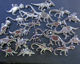 21 Australian Dinosaur opal collection settingsBu 987