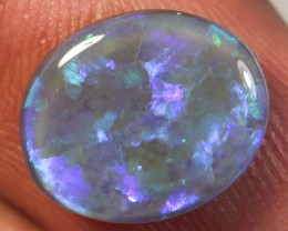 LIGHTNING RIDGE NATURAL BLUE BLACK OPAL 3.34ct GEM  BOD080115