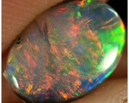 0.75ct Black Opal - ID:20519 Red with all colour of rainbow